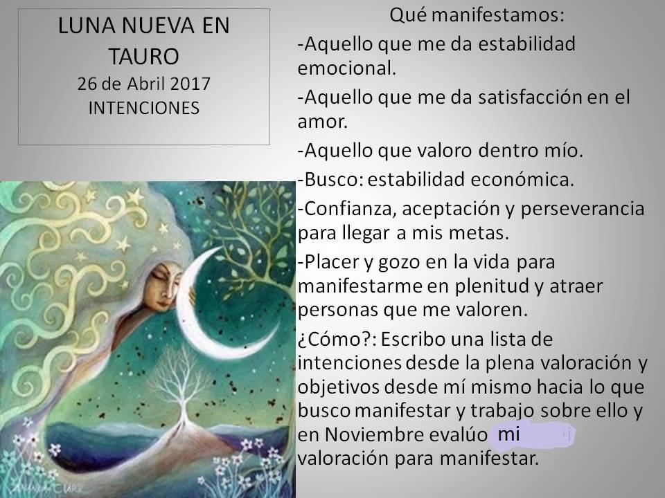 Luna nueva tauro 26 abril 2017 inicio de ciclos estables for En que ciclo lunar estamos hoy